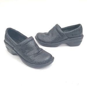Born boc  Black Leather Clogs - Size 8 M